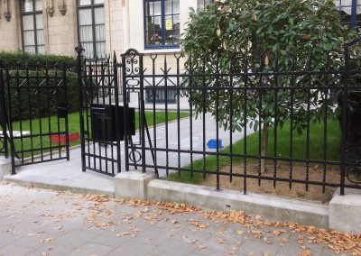 Fences in wrought iron